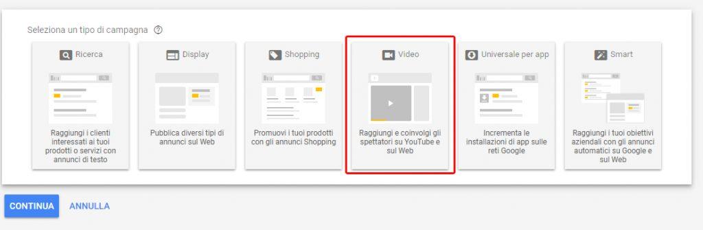 google ads campagne video